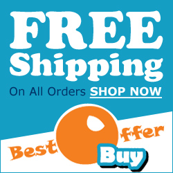 Free Shipping on all orders, worldwide!