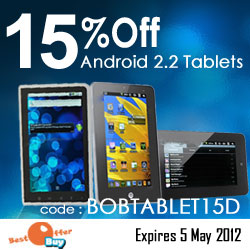 15% Off Android Tablets from BestOfferBuy