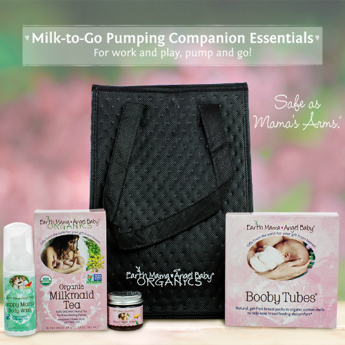 Earth Mama Angel Baby - Milk-to-Go Pumping Companion Essentials