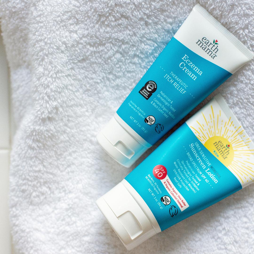 Eczema Cream =+ Uber-Sensitive Mineral Sunscreen Set