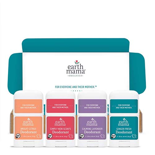 Earth Mama Mini Deodorant 4-pack