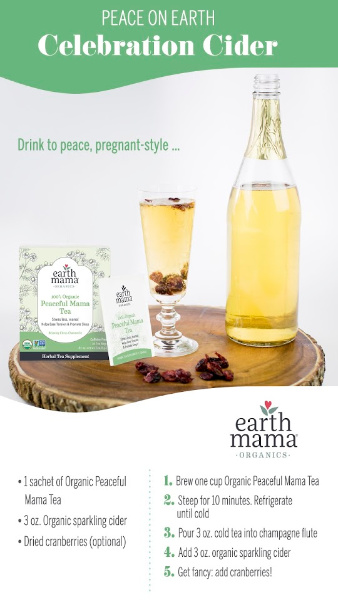 Celebration Cider with Peaceful Mama Tea