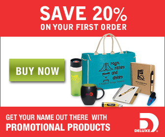 Deluxe SAVE 20% - Outstanding Promotional Items - Promote Your Business