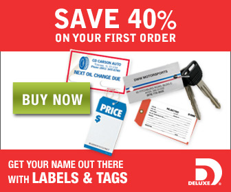 Save 40% off labels and tags
