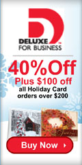 50% Off Deluxe Holiday Cards Plus $100 Off orders of $250 or more