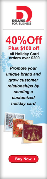 50% Off Deluxe Holiday Cards Plus $100 Off orders of $200 or more