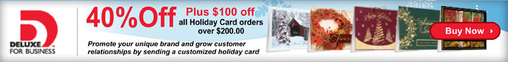 40% Off Deluxe Holiday Cards Plus $100 Off orders of $200 or more