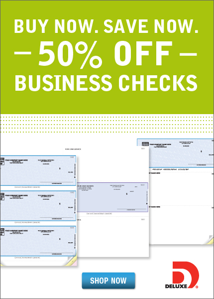 40% OFF 1ST ORDER OF CHECKS, DEPOSIT TICKETS OR CHECK ENVELOPES