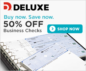 Deluxe Business Checks - 40% OFF 1ST ORDER OF CHECKS, DEPOSIT TICKETS OR CHECK ENVELOPES
