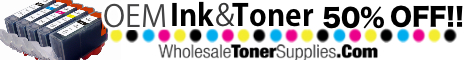 50% Off OEM Ink & Toner