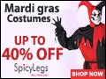 Buy Mardi Gras Costumes at up to 40% Off only at SpicyLegs.com