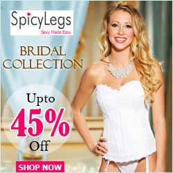 Latest collection of bridal lingerie at best prices only at SpicyLegs.com