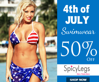 Upto 50% of on swimwear for 4th July