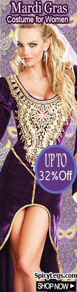 Get upto 32% off on sexy Mardi Gras Costumes for Women