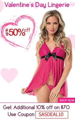 Latest collection of sexy valentine day lingerie available at up to 50% Off only at SpicyLegs.com