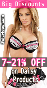Big discount on Sexy Lingerie from Daisy Corsets at SpicyLegs.com.