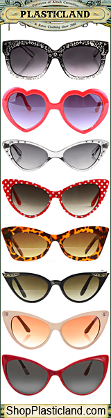 Find Vintage, Retro, Rockabilly and Goth Sunglasses at Plasticland