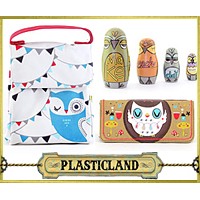 Quirky, Unique Gifts from Plasticland - Owl Russian Dolls, Owl Print Tote, Loungefly Owl Wallet