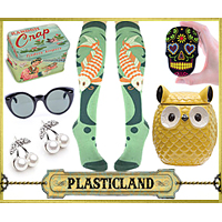 Quirky, Unique Gifts from Plasticland - Vintage Sunglasses, Owl Cookie Jar, Koi Socks