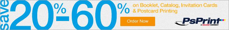 SAVE 10%-60% OFF at PsPrint.com!