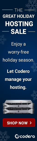 Codero's Holiday Hosting  Sale