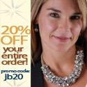20% off your entire purchase at jbandme.com! Use Promo Code: jb20 Featuring women's clothing, shoes, designer denim, and accessories.