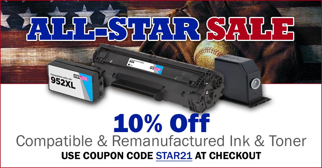 10% Off Printer Ink & Toner (excludes OEMs)