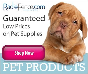 Radio Fence Low Prices on Pet Supplies Banner