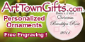 Get free engraving on any personalized ornament.