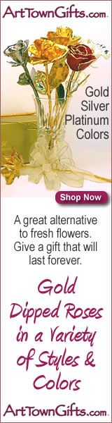 Give the gift that last for a lifetime. Gold dipped roses from Arttowngifts.com