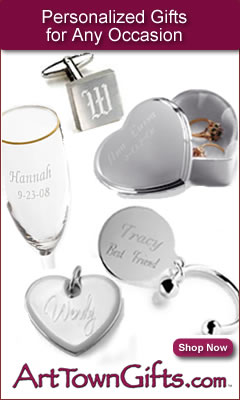 Find personalized gifts for all occasions at ArtTownGifts
