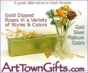 Give the gift that last for a lifetime. Gold dipped roses from