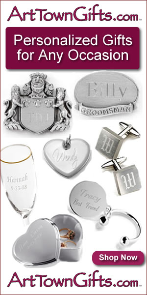 Find personalized gifts for all occasions at Arttowngifts.com.