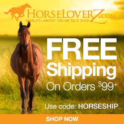 Free Shipping on $99+ at HorseLoverZ.com with code HORSESHIP (valid through 2/28/17)