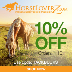10% Off $110+ at HorseLoverZ.com with code TACKBUCKS (valid through 2/28/17)