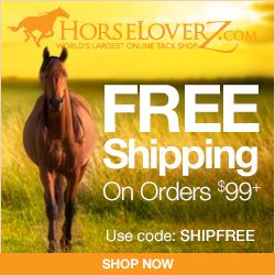 Free Shipping on $99+ at HorseLoverZ.com with code SHIPFREE