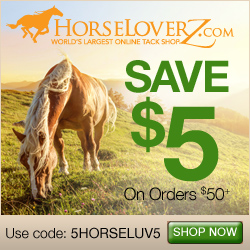 $5 Off $50+ at HorseLoverZ.com with code 5HORSELUV5