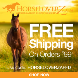 Free Shipping on $99+ at HorseLoverZ.com with code HORSELOVERZAFFD