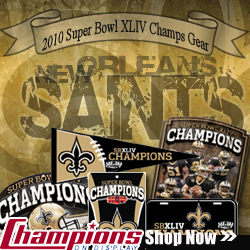 Shop ChampionsOnDisplay.com for New Orleans Saints 2010 Super Bowl Champs Gear - $2.99 Quick Shipping Evet Day!