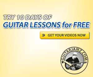 Get 10 free guitar lessons