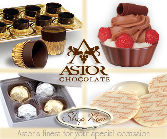 Astor Chocolate shell cup truffles