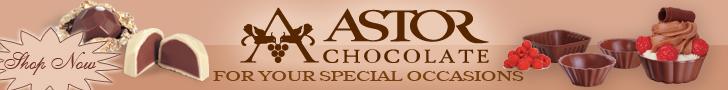Astor Chocolate truffles shells wedding favor