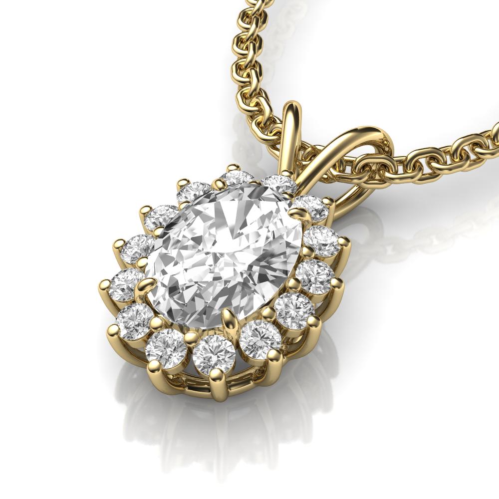 Oval pendant Diamonds-usa