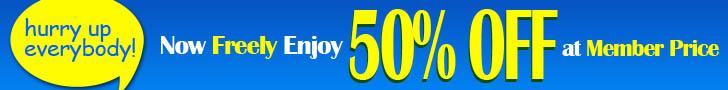 Enjoy 50% OFF Now At Member Price