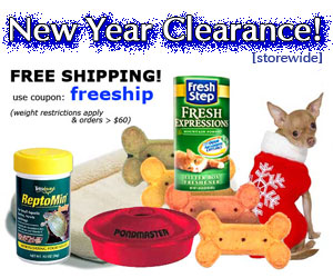 Double Dip on New Year Clearance with Free Shipping at GRpet.com
