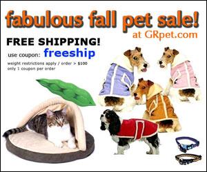 Fabulous Fall Pet Supply Sale - plus use coupon: freeship on orders > $100