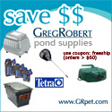 Brand Name Pond Supplies for less at GRpet.com