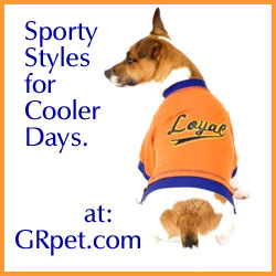 Sporty Styles for Cooler Days - Dog Apparel at GRpet.com