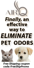 Air/Q Eliminates Pet Odors. Free Shipping with Coupon Code FreeShipPromo