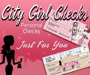 City Girl Personal Checks